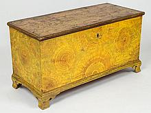 AMERICAN PAINT-DECORATED PINE BLANKET CHEST