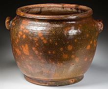 NEW MARKET, SHENANDOAH VALLEY OF VIRGINIA EARTHENWARE / REDWARE FLOWER URN