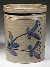 ROCKINGHAM CO., SHENANDOAH VALLEY OF VIRGINIA DECORATED STONEWARE CROCK
