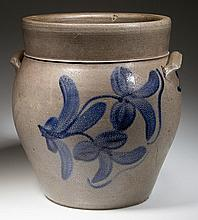 JOHN D. HEATWOLE, ROCKINGHAM CO., SHENANDOAH VALLEY OF VIRGINIA DECORATED STONEWARE JAR