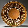 FINE HAGERSTOWN, MARYLAND SLIP-DECORATED EARTHENWARE / REDWARE BOWL