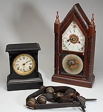 AMERICAN MANTLE CLOCKS, LOT OF TWO
