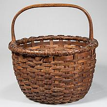 APPALACHIAN WOVEN-SPLINT GATHERING BASKET