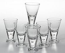 CONTEMPORARY CYRSTAL CORDIALS, LOT OF SIX