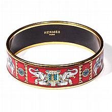 HERMES, PARIS ENAMELED BRACELET