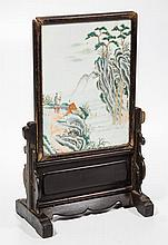 CHINESE CARVED HARDWOOD TABLE SCREEN