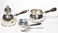 AMERICAN STERLING SILVER BRANDY WARMERS, LOT OF THREE