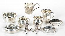 ASSORTED STERLING SILVER TABLE ARTICLES, LOT OF TEN