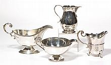 ENGLISH STERLING SILVER TABLE ARTICLES, LOT OF FOUR