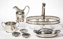 TIFFANY STERLING SILVER TABLE ARTICLES, LOT OF SEVEN