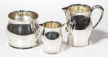 AMERICAN STERLING SILVER PAUL REVERE REPRODUCTION TABLE ARTICLES, LOT OF THREE