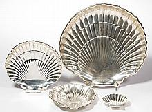 GORHAM STERLING SILVER SHELL-FORM DISHES, LOT OF THREE