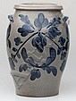 OUTSTANDING STRASBURG, VIRGINIA DECORATED STONEWARE JAR