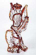 STUDIO ART GLASS FOLIATE VASE