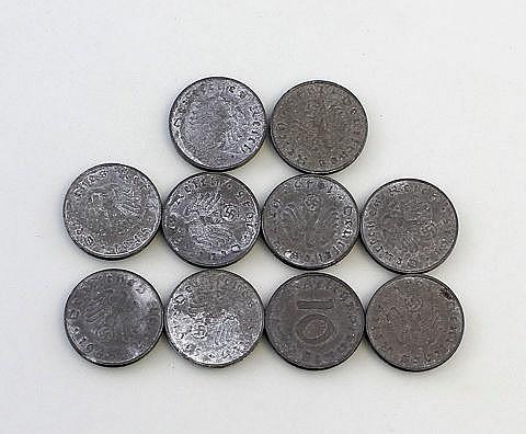 10 x 10 Reichspfennig 1945