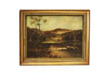 JACK DUCKER (ENGLAND 20TH CENTURY), OIL ON CANVAS,