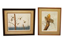 DAVE CHAPPLE (AMERICAN 1947-), LOT (2) ETCHINGS INCLUDING
