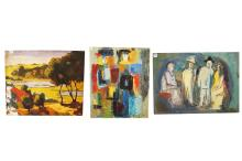 WINIFRED CARSON (AMERICAN 20TH CENTURY), LOT ASSORTED PAINTINGS. LARGEST 30 X 25