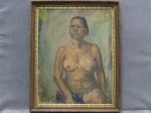 FRANISCO ZUNIGA (MEXICAN 1912-1998), OIL ON CANVAS