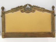 FRENCH CARVED AND GILT HEADBOARD