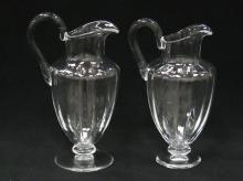 LOT (2) BACCARAT CRYSTAL PITCHERS, SIGNED