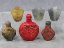LOT (6) ASSORTED CHINESE SNUFF BOTTLES