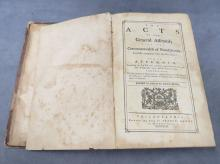FOLIO VOLUME- THE ACTS OF THE GENERAL ASSEMBLY