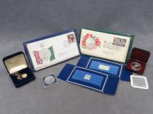 LOT INCLUDING COOK ISLANDS 1977 $25.00 SILVER COIN