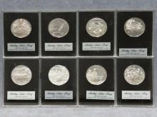 LOT (8) STERLING SILVER PROOF MEDALLIONS