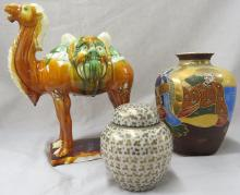 LOT (3) INCLUDING CHINESE TANG STYLE SANCAI CAMEL
