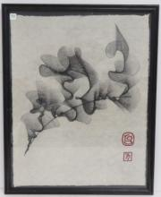 ROBERT GRAWI (AMERICAN 20TH CENTURY), CHARCOAL ON RICE PAPER,