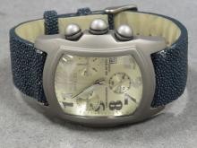 INVICTA TITANIUM, MODEL 2090, QUARTZ CLASSIC LUPHA CHRONOGRAPH WRISTWATCH WITH STINGRAY BAND
