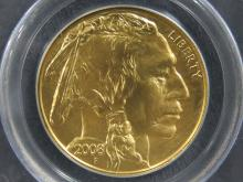 2008 AMERICAN BUFFALO $50.00 GOLD COIN. 1 OZ (MS-70)