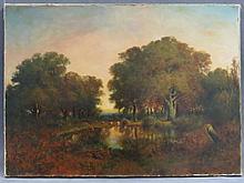 SAMUEL BOUGH (ENGLISH 1822-1878), OIL ON CANVAS,