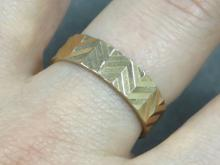 RUSSIAN 14K ART DECO STYLE WEDDING BAND. RING SIZE 9 1/2