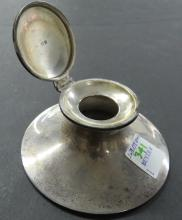 BIRMINGHAM LONDON STERLING INK WELL, INSCRIBED