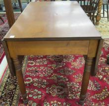 ANTIQUE FRUITWOOD DROP-LEAF TABLE. HEIGHT 30