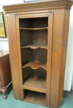 FEDERAL PINE CORNER CUPBOARD, 19TH CENTURY. HEIGHT 69 1/2