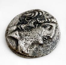 SELEUKID KINGDOM, ANTIOCHOS VIII, (121-96 BC) AR TETRADRACHM COIN, 28MM (F)