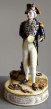 ROYAL DOULTON DECORATED PORCELAIN FIGURE, VICE-ADMIRAL LORD NELSON, BY ALAN MASLANKOWSKI #126/950, 1993. HEIGHT 12 3/4