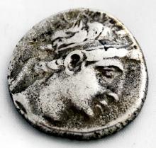 SELEUKID KINGDOM, DEMETRIOS II (145-140 BC) AR TETRADRACHM COIN, 28MM (F)