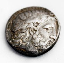 KINGDOM OF MACEDON PHILIP II (359-336 BC) AR TETRADRACHM COIN 24MM (VF)