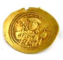 BYZANTINE EMPIRE MICHAEL VII (1071-1078 AD) GOLD HISTAMENON NOMISMA COIN, 28MM, 4.40 GRAMS (MS)