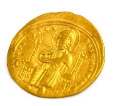 BYZANTINE EMPIRE ROMANUS III (ARGYRUS) (1028-1034 AD) GOLD HISTAMENON NOMISMA (S-1819) COIN, 23MM 4.41 GRAMS