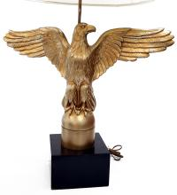 CARVED GILT EAGLE TABLE LAMP. HEIGHT 39