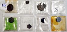 LOT (11) ANCIENT ROMAN/BYZANTINE BRONZE COINS INCLUDING VALENS, JULIAN II, MACRINUS, C.200-400 AD