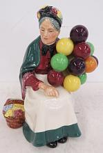 ROYAL DOULTON PORCELAIN, THE OLD BALLOON SELLER, HN1315. HEIGHT 8