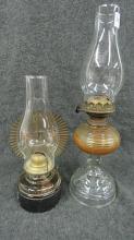 LOT (2) OIL LAMPS