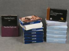 LOT (14) ASSORTED 1981-2011 PROOF SETS