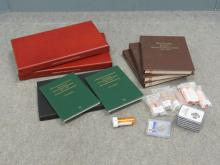 LOT (856) ASSORTED FIFTY STATE AND TERRITORIES COMMEMORATIVE QUARTERS 1999-2008 INCLUDING (2) WOODEN CASED SETS; (3) DANSCO #7143 ALBUMS; (1) BOXED SET; (2) LITTLETON FOLDERS; (8) ROLLS; (3) SLABBED (PF-69, ULTRA CAMEO)